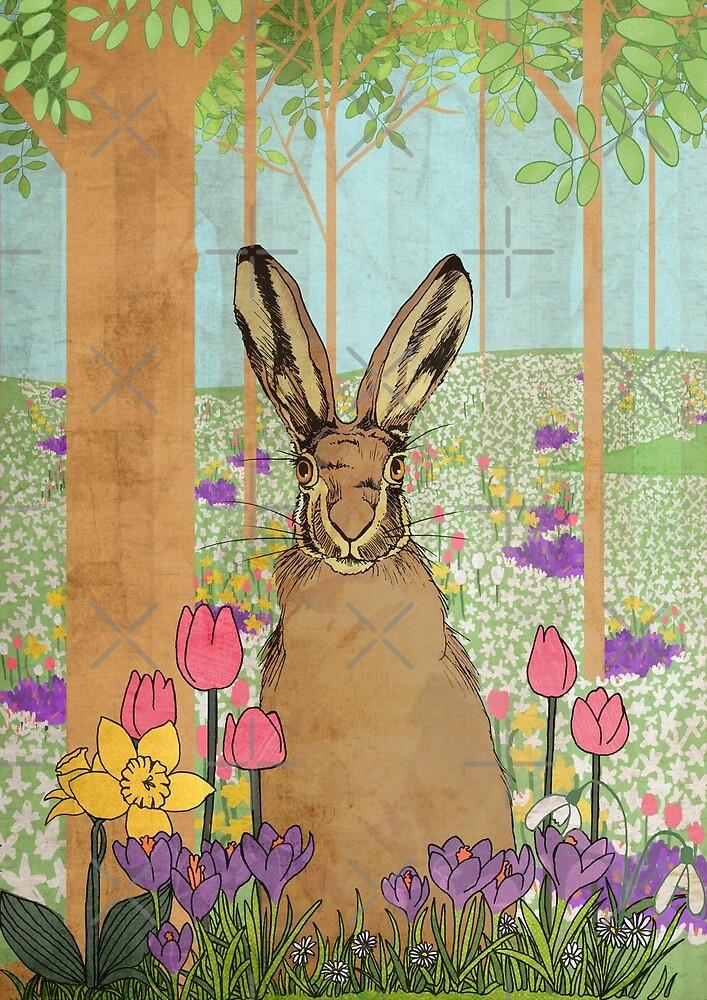 Springtime Hare by katherineblower