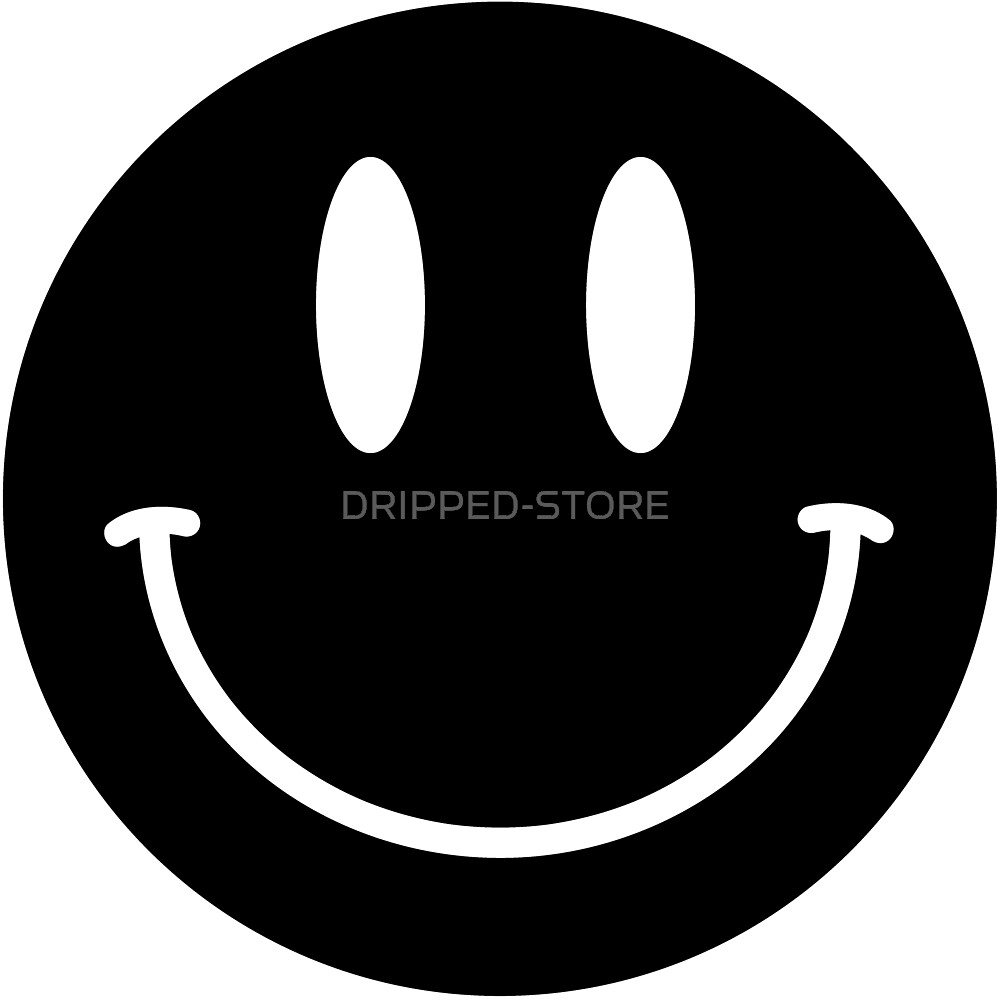 BLACK SMILEY FACE by DRIPPED-STORE