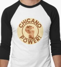 Chicano Power Men's Baseball ¾ T-Shirt