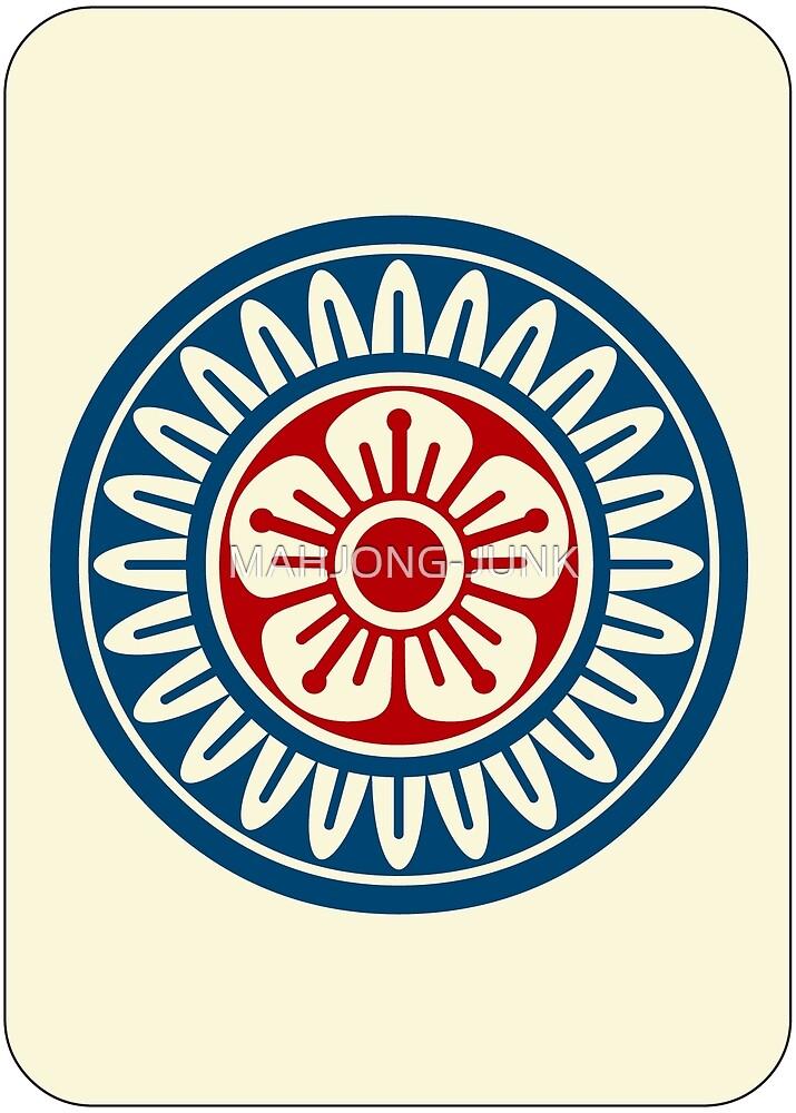 麻雀牌 1筒 / ONE OF CIRCLES -MAHJONG TILE- by MAHJONG-JUNK