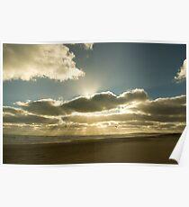 Sunrays over Goolwa Beach Poster