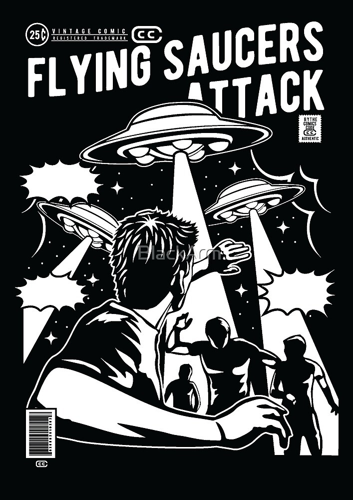 Flying Saucers Attack by BlackArm