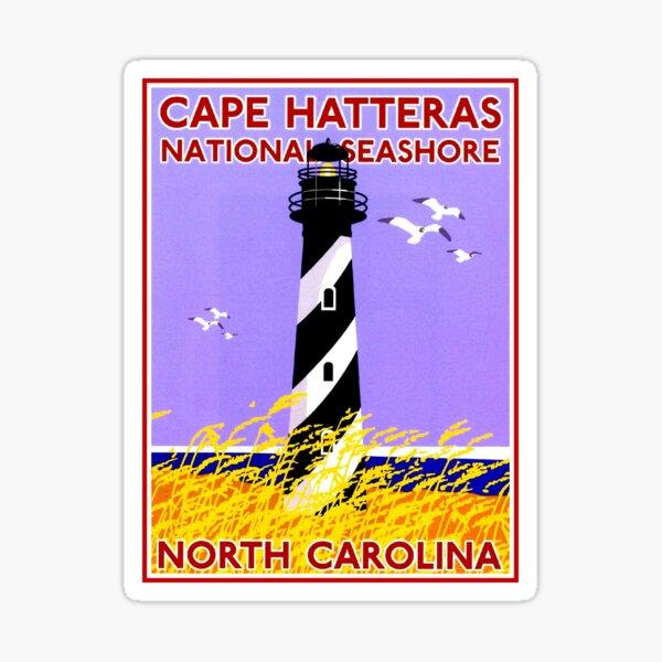 LIGHTHOUSES : Vintage Cape Hatteras Seashore Advertising Print Sticker