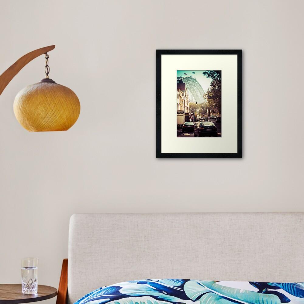 Vintage Rocks - Sydney, Australia Framed Art Print
