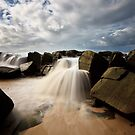Seaside Waterfalls by David de Groot