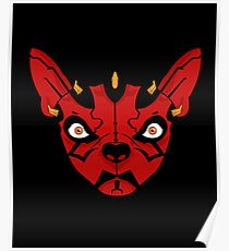 Star Wars Darth Maul on French Bulldog in Red Gear Poster