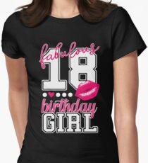 18. Happy Birthday College Style Mädchen Teenager Shirt Tailliertes T-Shirt für Frauen