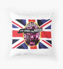 God Save The Tiger Throw Pillow