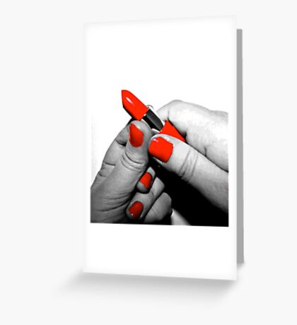 Red Lipstick - #WalkInRed2015 Greeting Card