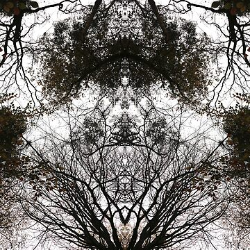 Abstract Tree Art 01 by FlatLandPrints