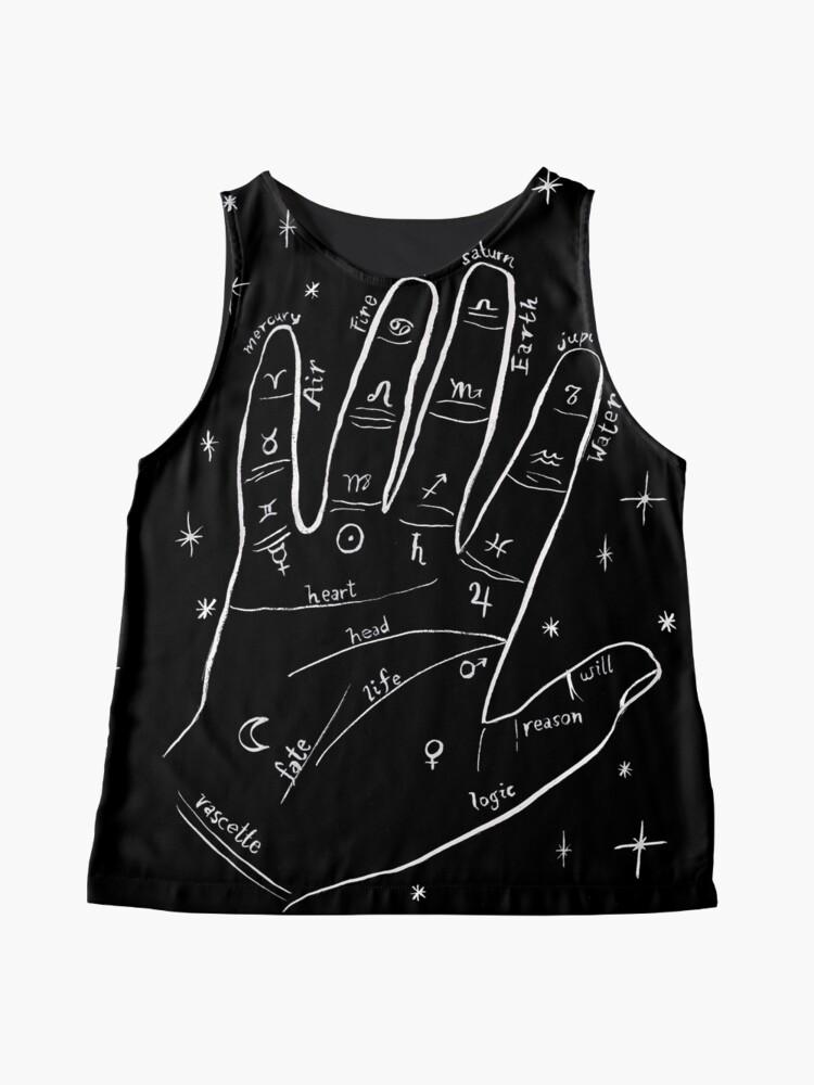 Alternate view of Mystical palm reader hand print Sleeveless Top