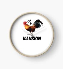 I'm a rooster illusion Shirt Clock