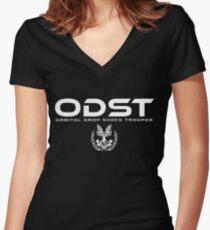 Halo ODST Orbital Drop Shock Trooper Women's Fitted V-Neck T-Shirt