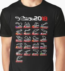 Calendar F1 2018 circuits sport Graphic T-Shirt