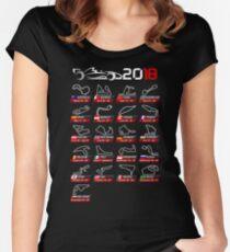 Calendar F1 2018 circuits sport Women's Fitted Scoop T-Shirt