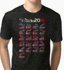Calendar F1 2018 circuits sport Tri-blend T-Shirt