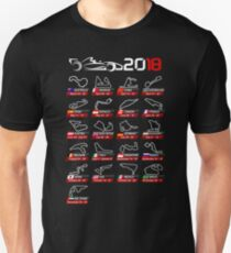 Calendar F1 2018 circuits sport Unisex T-Shirt