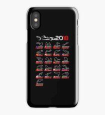 Calendar F1 2018 circuits sport iPhone Case/Skin
