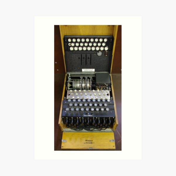 3-Rotor Enigma Machine Art Print