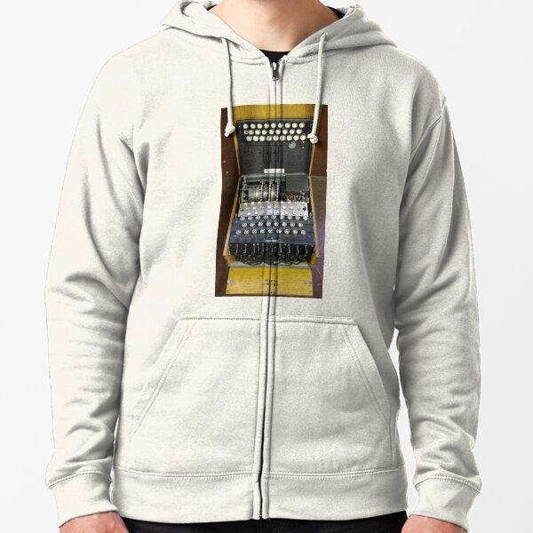 3-Rotor Enigma Machine Zipped Hoodie