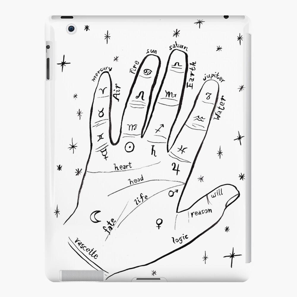 Mystical hand palm reader print iPad Case & Skin