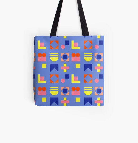 Bright Geometry - seamless pattern All Over Print Tote Bag