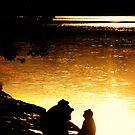 Sunset monkey by oddoutlet