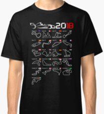 Calendar F1 2018 circuits Classic T-Shirt