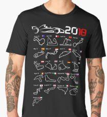 Calendar F1 2018 circuits Men's Premium T-Shirt