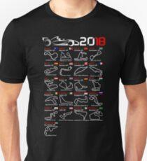 Calendar F1 2018 named circuits Unisex T-Shirt