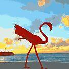 """""""Flamingo Sunset"""" by Ariane"""