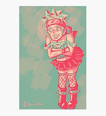 Naruto Dressed as a Punk Girl Photographic Print