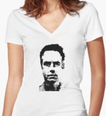 Jordan Peterson - Black and White Women's Fitted V-Neck T-Shirt