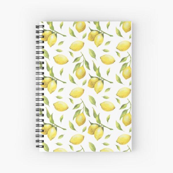 Lemon Pattern Spiral Notebook