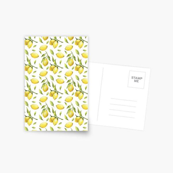 Lemon Pattern Postcard
