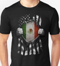 Mexican American Flag USA Mexico Unisex T-Shirt