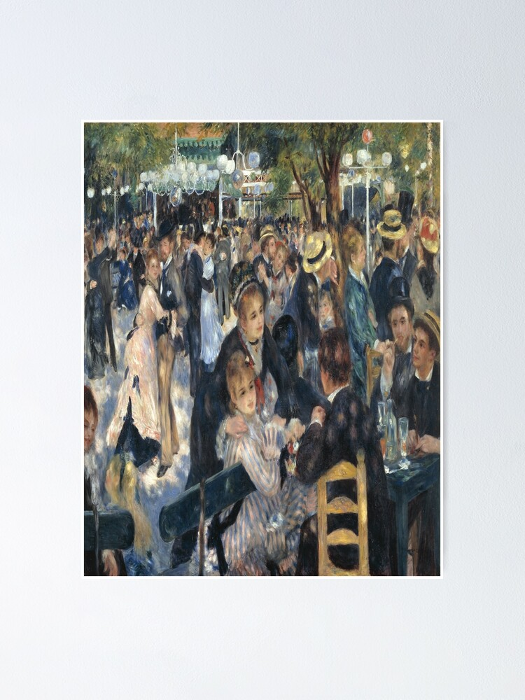 Renoir Art Dance at Le Moulin de la Galette Custom Framed Print