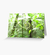 Spiral of life Greeting Card