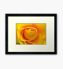 Yellow Folds .. Framed Print