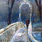 Germany Baden-Baden Winter Bridge by Yuriy Shevchuk