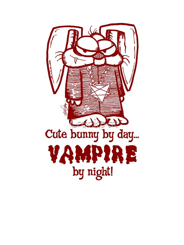 Quot Vampire Bunny Blood Quot Stickers By Crockpot Redbubble