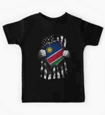 Namibian American Flag USA Namibia Kids Tee