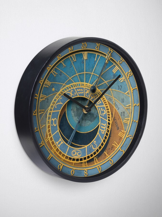 Alternate view of Stunning Medieval Astronomical Clock or Praha Orloj in Prague / Praha – Professional Photo Clock