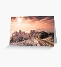 Big Freeze - Winter morning on Malvern Hills Greeting Card