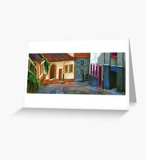 Germany Baden-Baden Old Street Greeting Card