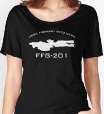 UNSC Forward Unto Dawn FFG-201 Ship Profile Women's Relaxed Fit T-Shirt