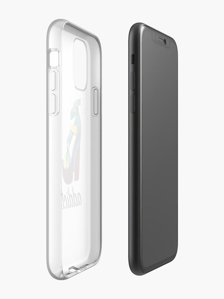 Coque iPhone «Shoe Addict - Pompe à plate-forme à lanières», par IamRaym