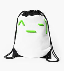 Winking kaomoji emoticon Drawstring Bag