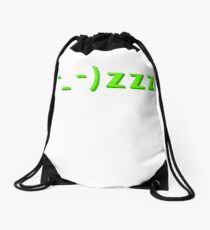 Sleepy kaomoji emoticon face zzz Drawstring Bag