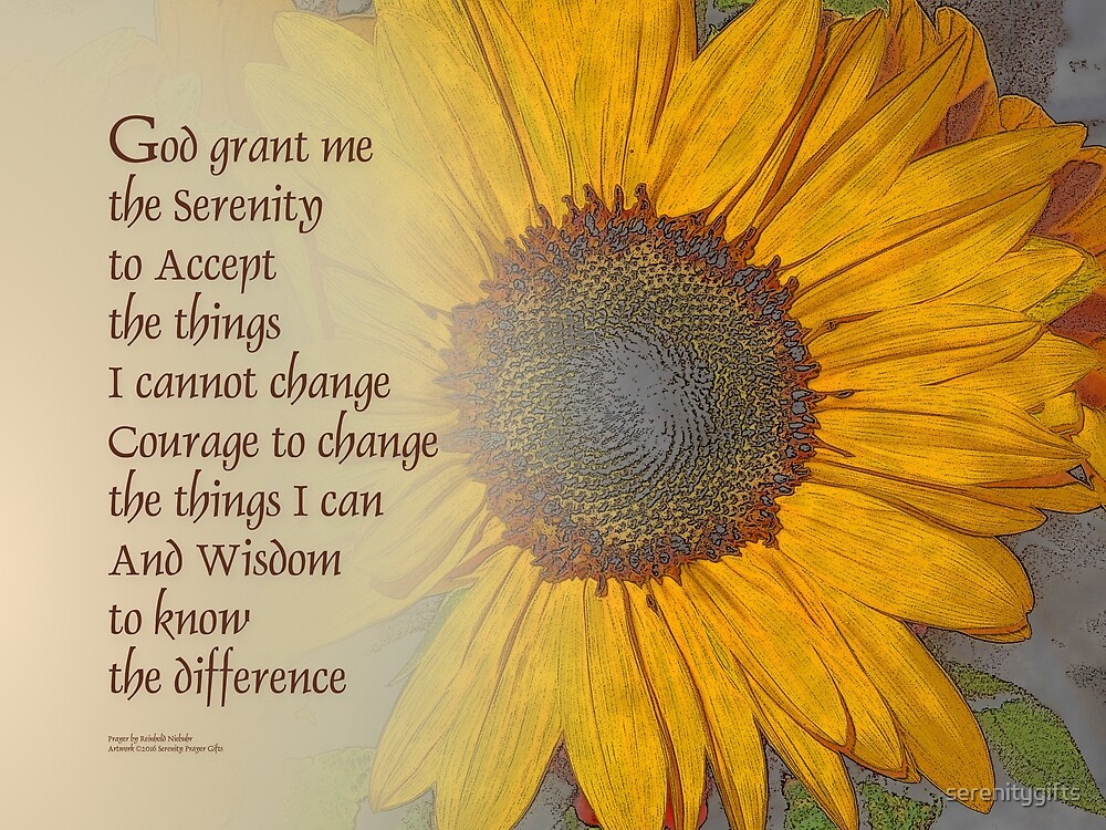 Serenity Prayer Sunflower Blend\